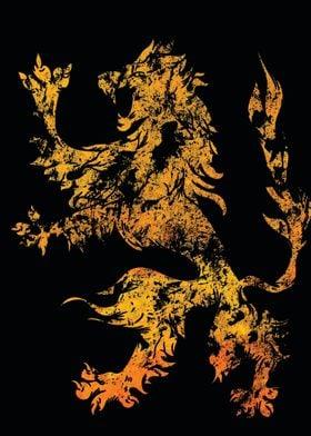 Heraldic Lion - Grungy Heraldry