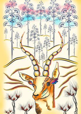 Vibrant Jungle Antelope