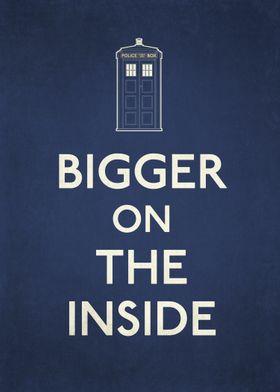 Bigger on the inside TARDIS displate.