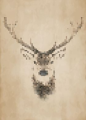 Geometric Deer Portrait