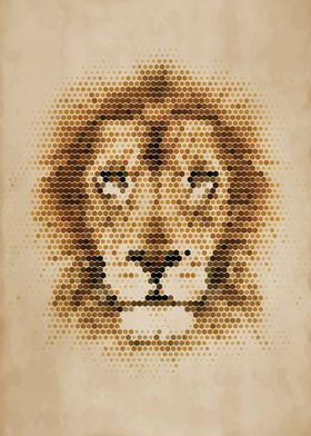 Geometric Lion Portrait