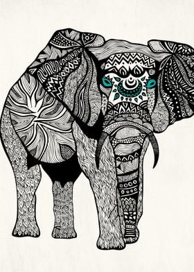 One Tribal Elephant