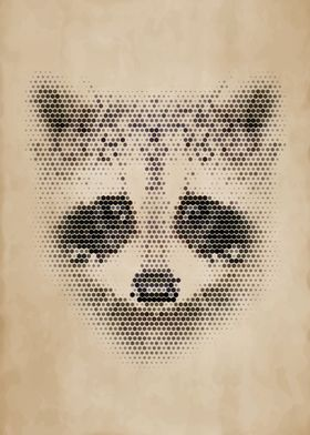 Geometric Raccoon Portrait