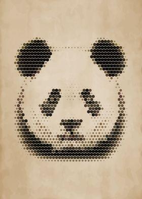 Geometric Panda Portrait