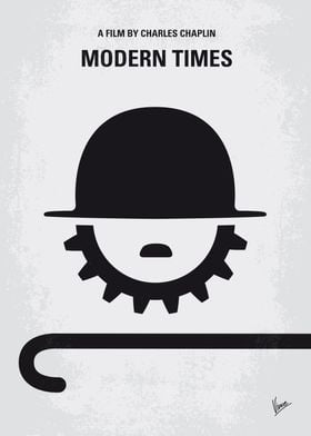 No325 My MODERN TIMES minimal movie poster The Tramp s ...
