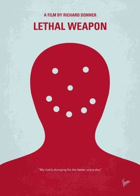 No327 My Lethal Weapon minimal movie poster A veteran ...