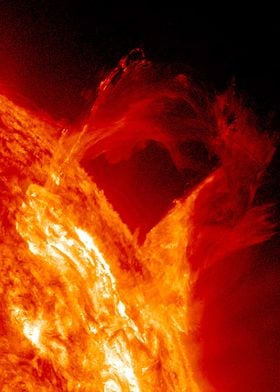 the sun This is a real photograph made by Nasa. No reto ...