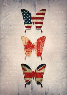 flag butterflies