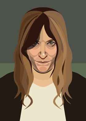 A digital portrait of Patti Smith