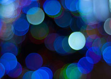 Pretty Blue Bokeh Lights