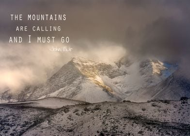 The Mountains Are Calling Poster By Guido Montanes Displate