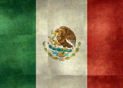 The flag of Mexico is a vertical tricolor of green, whi ...