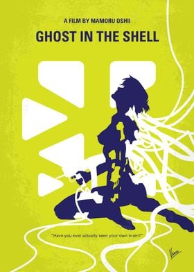 No366 My Ghost in the Shell minimal movie poster A fema ...
