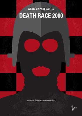 No367 My Death Race 2000 minimal movie poster In a dys ...