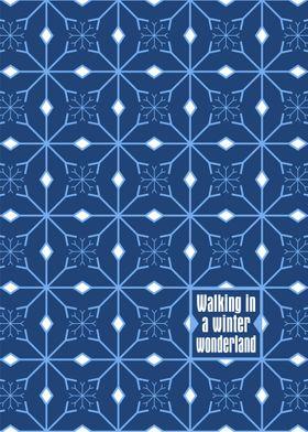 Winter Wonderland Snowflake Pattern