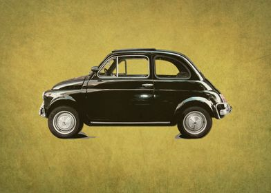 vintage dream car - yellow