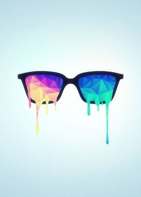 Psychedelic Nerd Glasses with Melting LSD/Trippy Color  ...