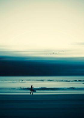Abstract beach scene  - ma