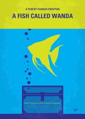No389 My A Fish Called Wanda minimal movie poster In L ...