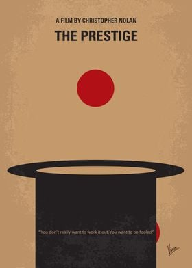 No381 My The Prestige minimal movie poster Two stage ma ...