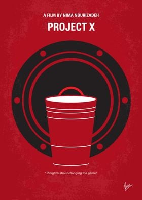 No393 My PROJECT X minimal movie poster Three seemingl ...