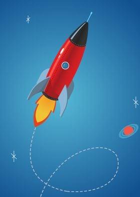 red shiny rocket