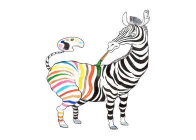 Zebra Art of life