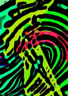 Green Zebra-a colorful interpretation of the animal  in ...