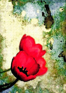 Enchanting Tulips - Painterly Style