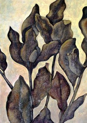 Winter Leaves - oil painting