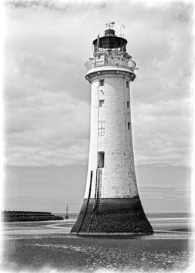 A Vintage Scene at Perch Rock