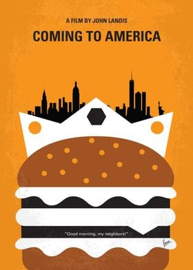 No402 My Coming to America minimal movie poster An Afr ...
