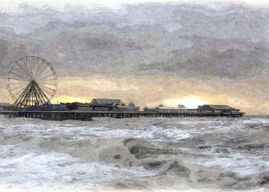 Blackpool Pier in Oils