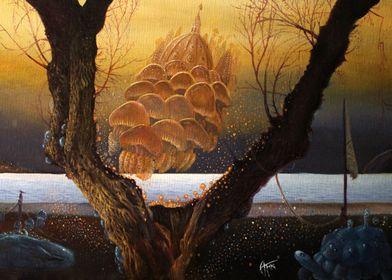 Alessandro Fantini - An der Schwelle (2014-15) Oil on c ...