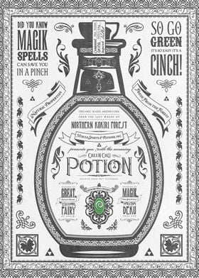 Legend of Zelda inspired Green Chu Potion Advertisement ...