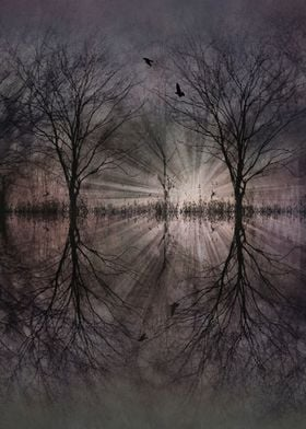 inner space - abstract landscape