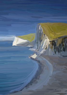 Dorset Cliffs. These white prehistoric cliffs have been ...