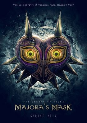 Inspired by Legend of Zelda, Majoras Mask game title th ...