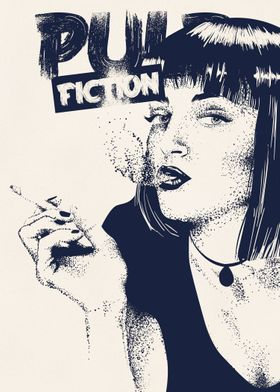 Pulp Fiction - Dotwork altvernative movie poster