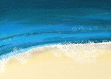 Dorset Waves. This abstract was inspired by gentle wave ...