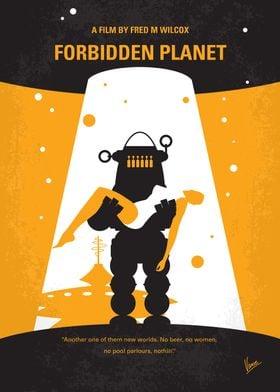 No415 My Forbidden Planet minimal movie poster A starsh ...