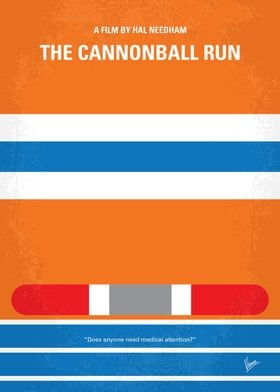 No411 My The Cannonball Run minimal movie poster A wid ...