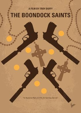 No419 My BOONDOCK SAINTS minimal movie poster Fraterna ...