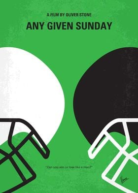 No420 My ANY GIVEN SUNDAY minimal movie poster A behin ...