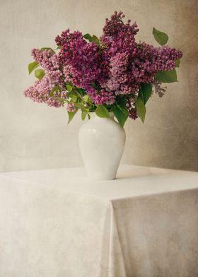 Still life with fresh lilacs
