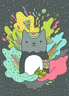 Abstract cute Cat