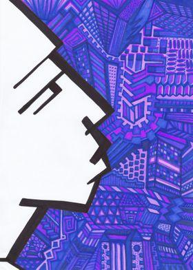 Urbanite in blue