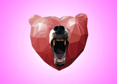 The Love Bear - Violet