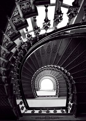 Beautiful staircase in black and white
