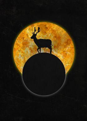 Deer Walking On The Moon.